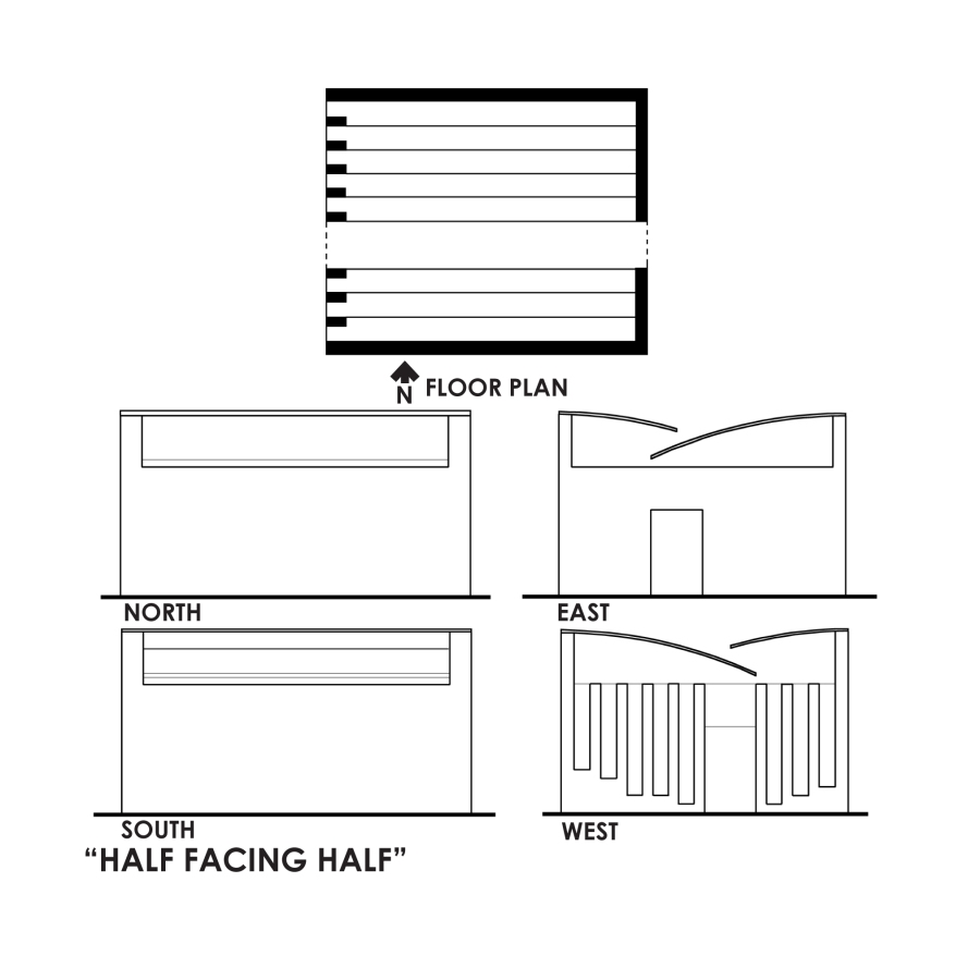 Half Facing Half Plans