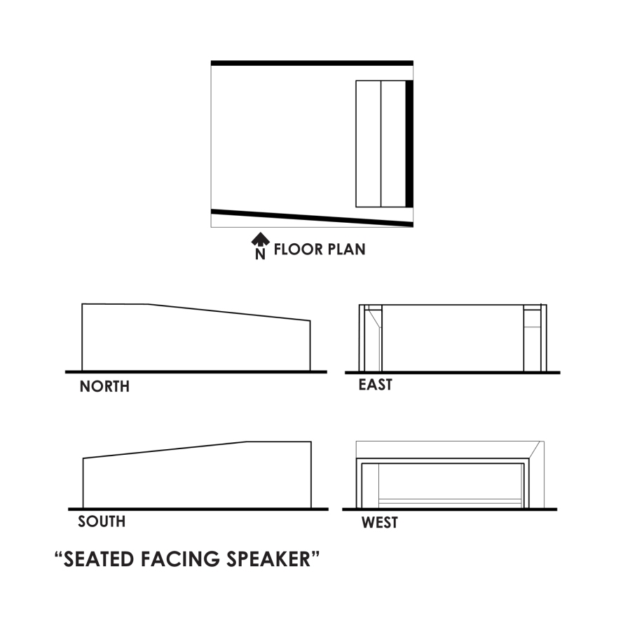 Seated Facing Speaker Plans